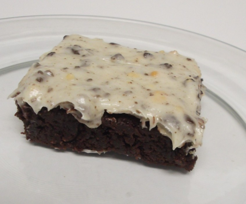 Oreo Cream Frosted Brownies