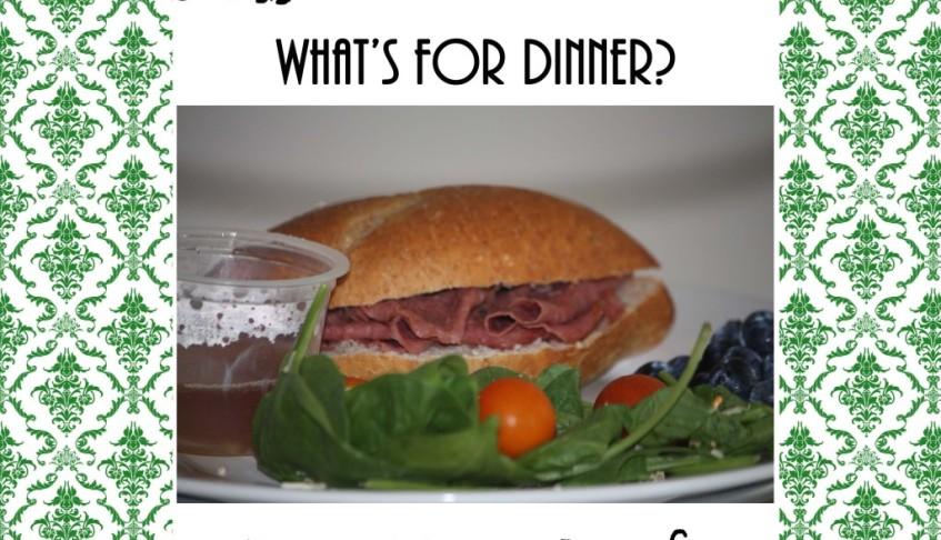 Poor Mans Beef Au Just Sandwiches