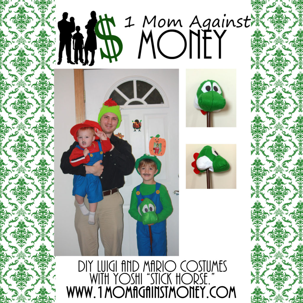 http://www.1momagainstmoney.com/diy-yoshi-stick-horse-and-mario-and-luigi-costumes/