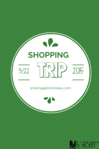 Shopping Trip for 3-22-15