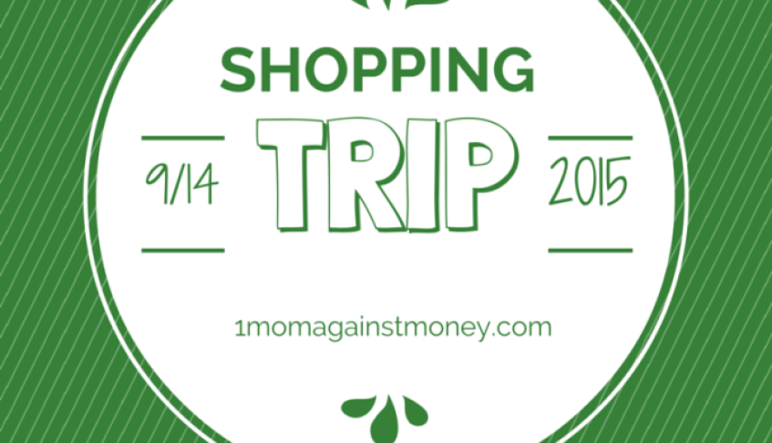 Shopping Trip for 9-14-15