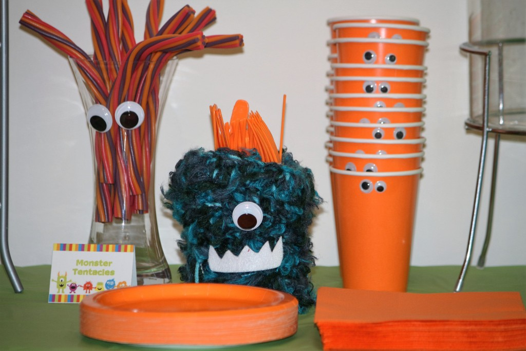 Monster Party Food table Decorations