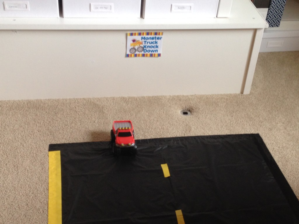 Monster Truck Knock Down Game