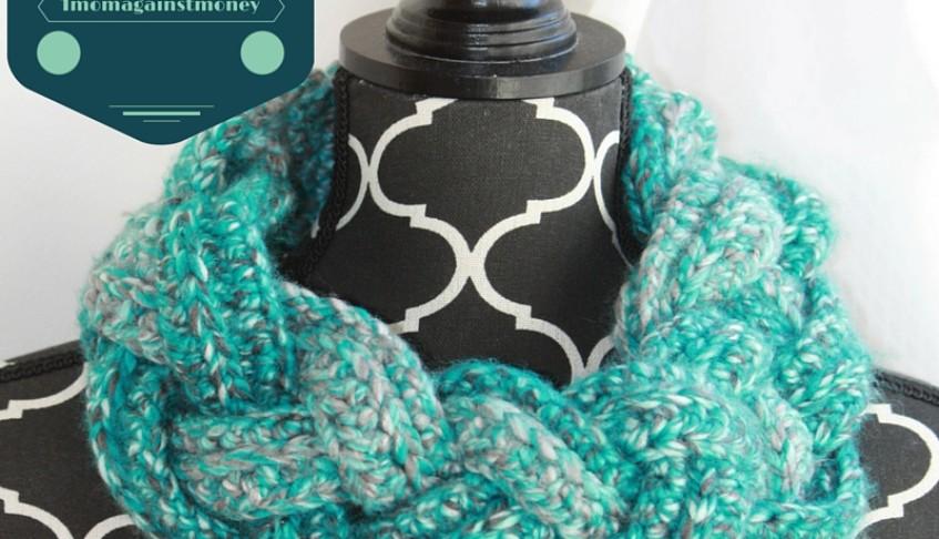 Braided Crochet Cowl