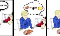 pizza bomb, funny kids