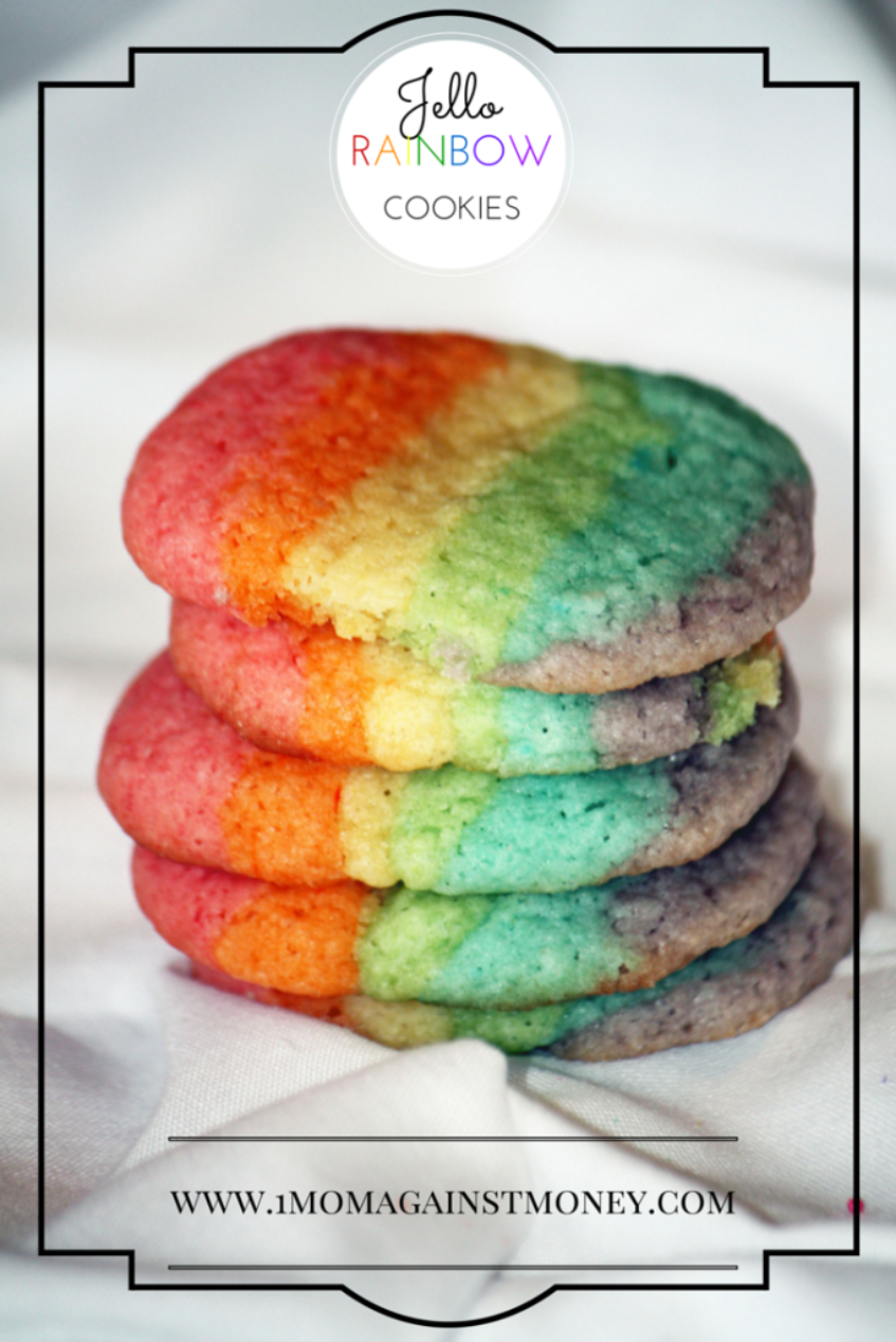 Rainbow Jello Cookies