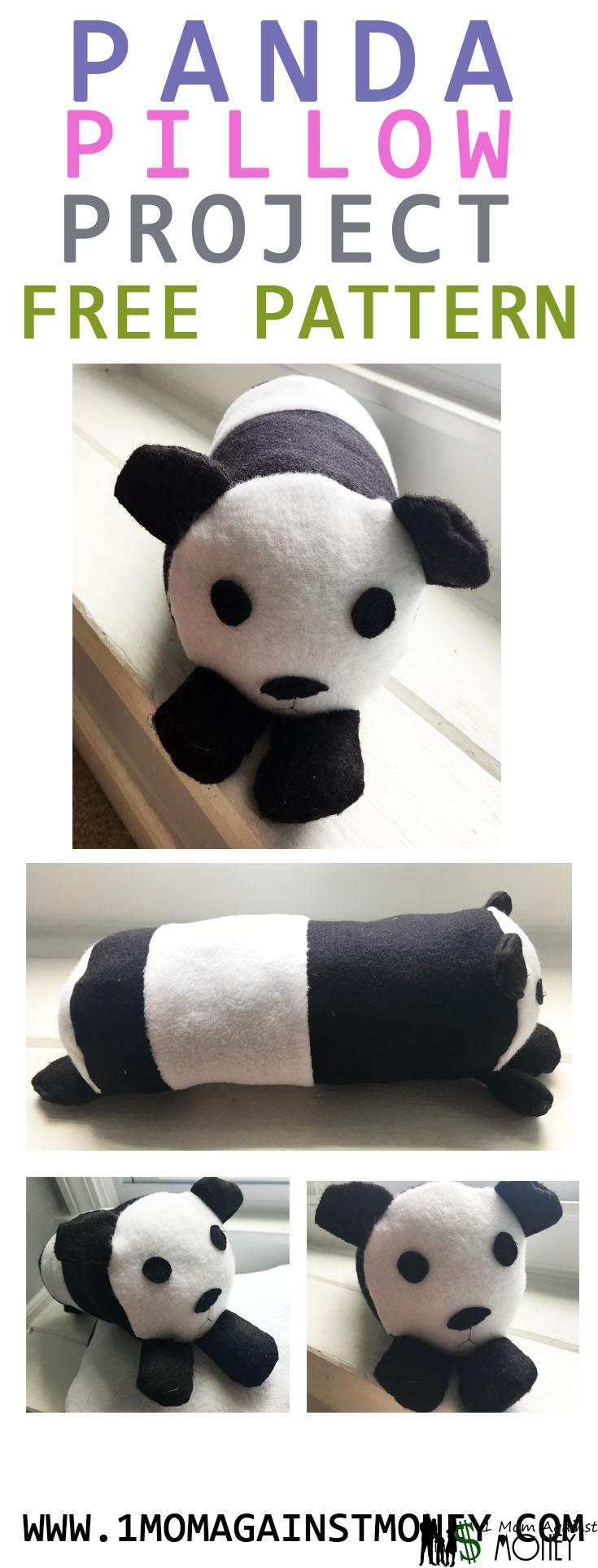 Panda Pillow with Pattern