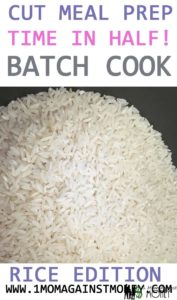 Cut Dinner Prep Time In Half: Batch Cooking Rice Edition