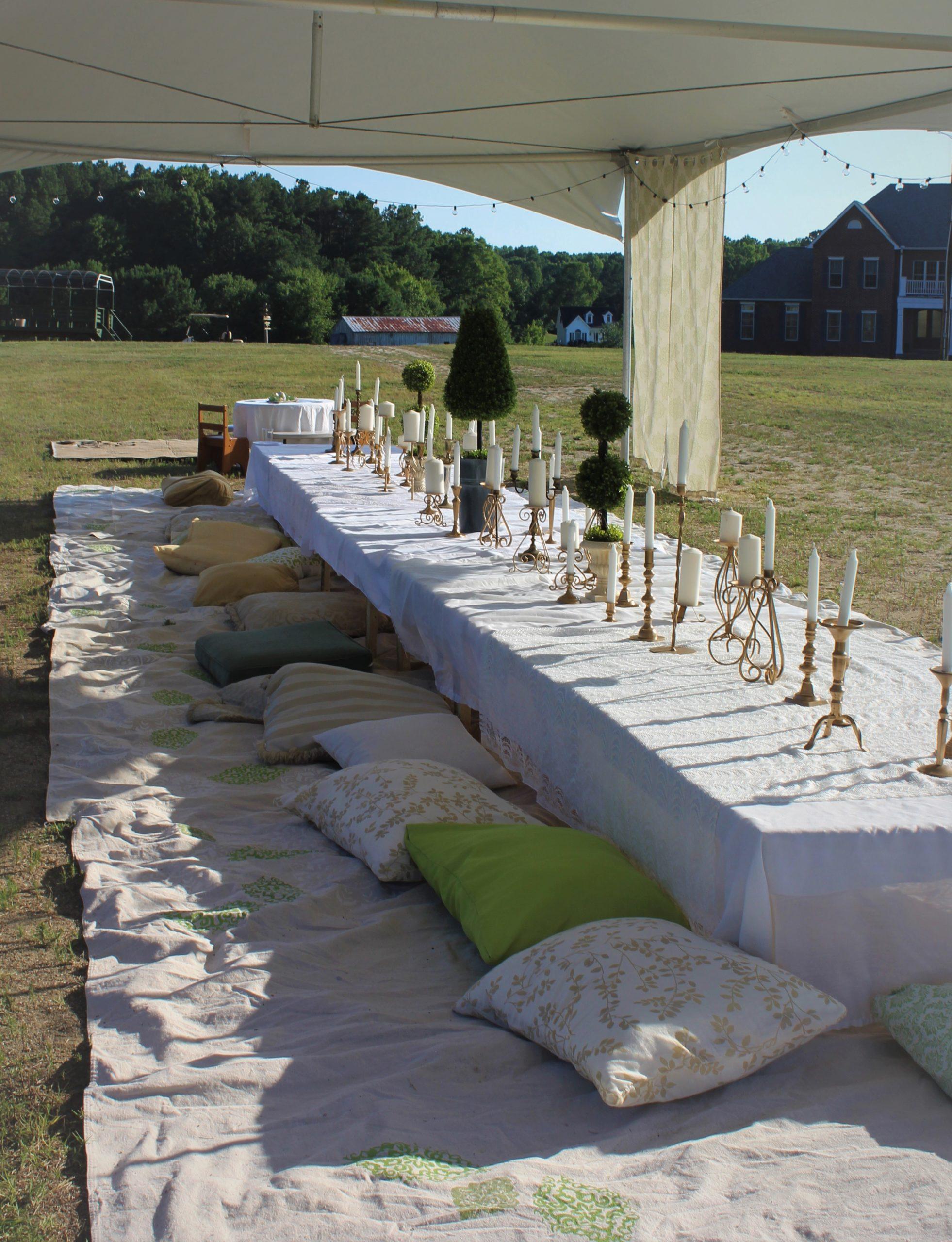 An Elegant Lawn Party Wedding Reception