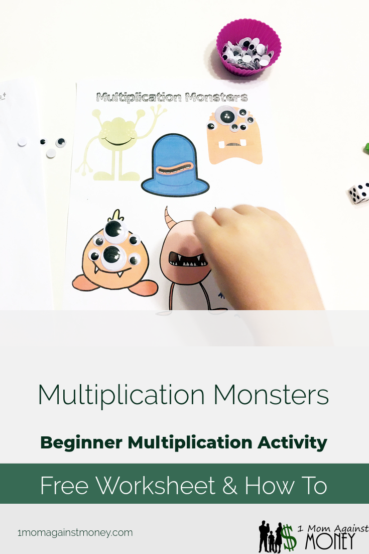 Multiplication Monsters: Beginner Multiplication Activity