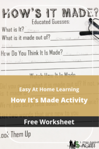 Read more about the article How's It Made? Learning Activity