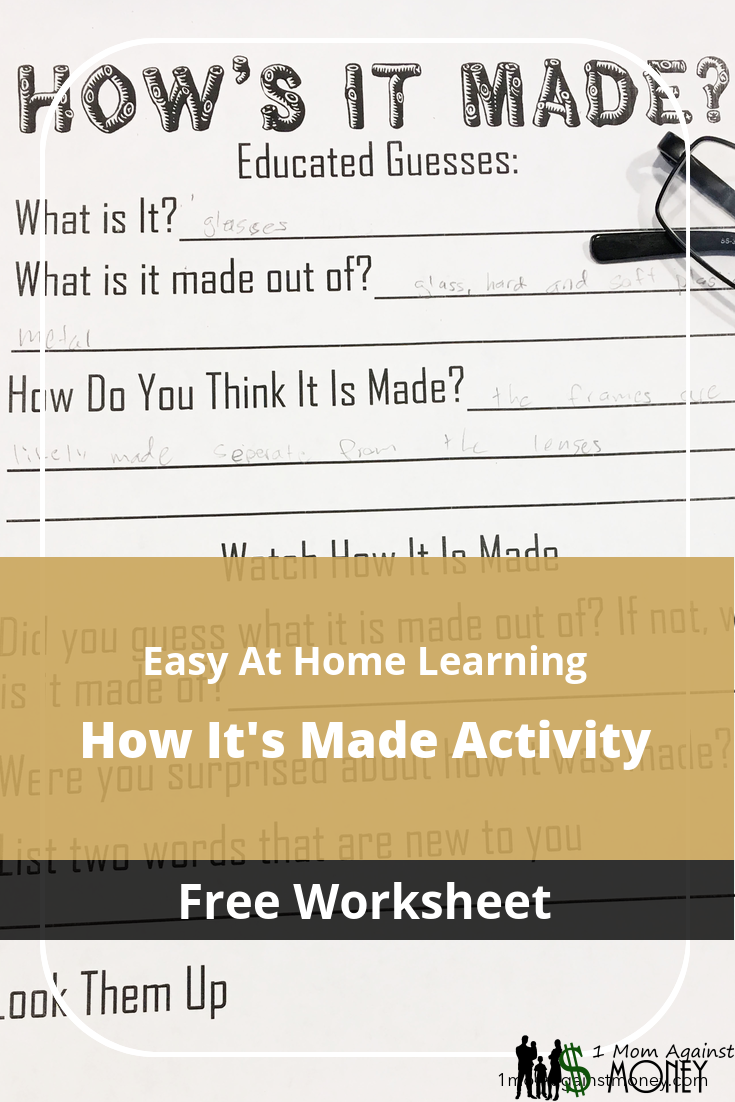 You are currently viewing How's It Made? Learning Activity