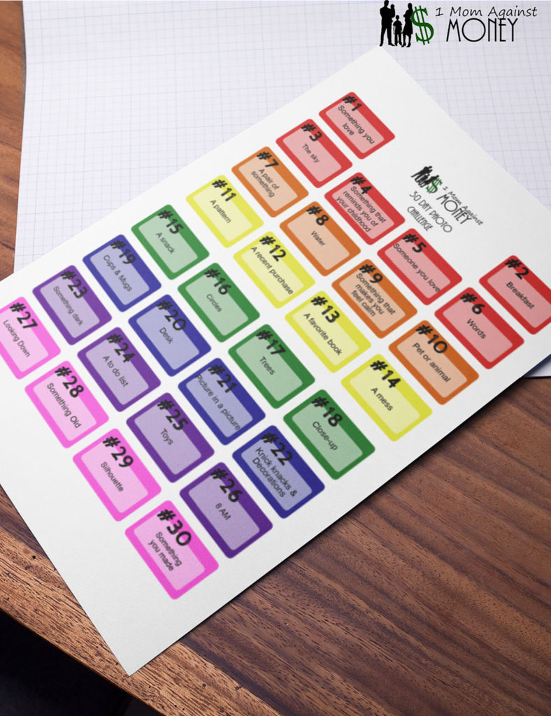 Free Planner Stickers print for a photo a day