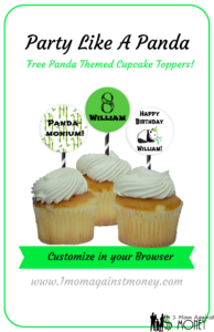 Free! Panda Party Cupcake Toppers