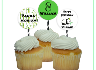 panda party cupcake toppers from 1momagainstmoney.com