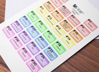 Free planner challenge stickers