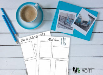 Happy Planner Meal Ideas Insert Free