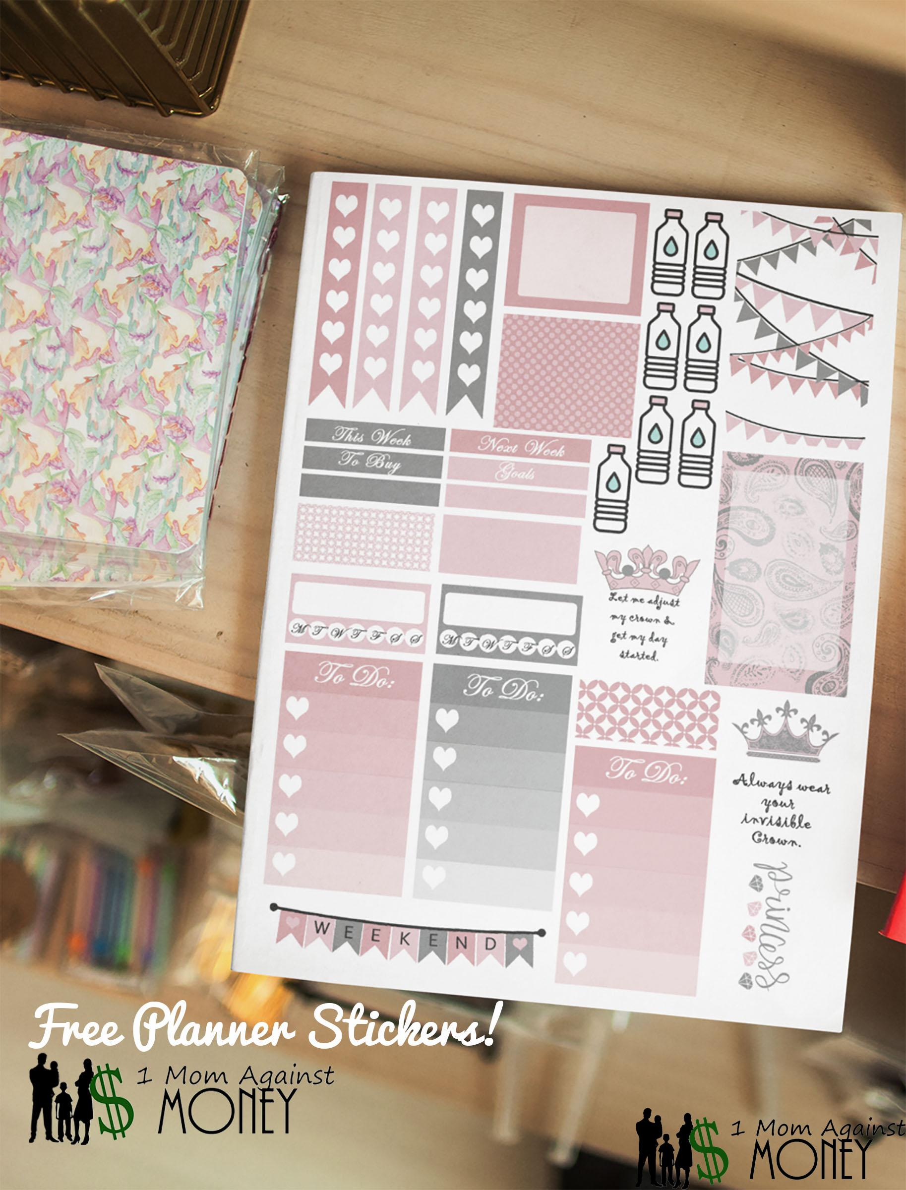 Read more about the article Queen Planner Sticker Sheet Free!