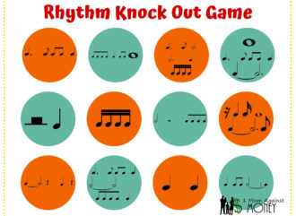 piano lesson rhythm game from 1momagainstmoney.com