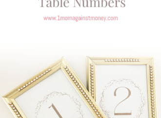 Download Free Wedding Table numbers