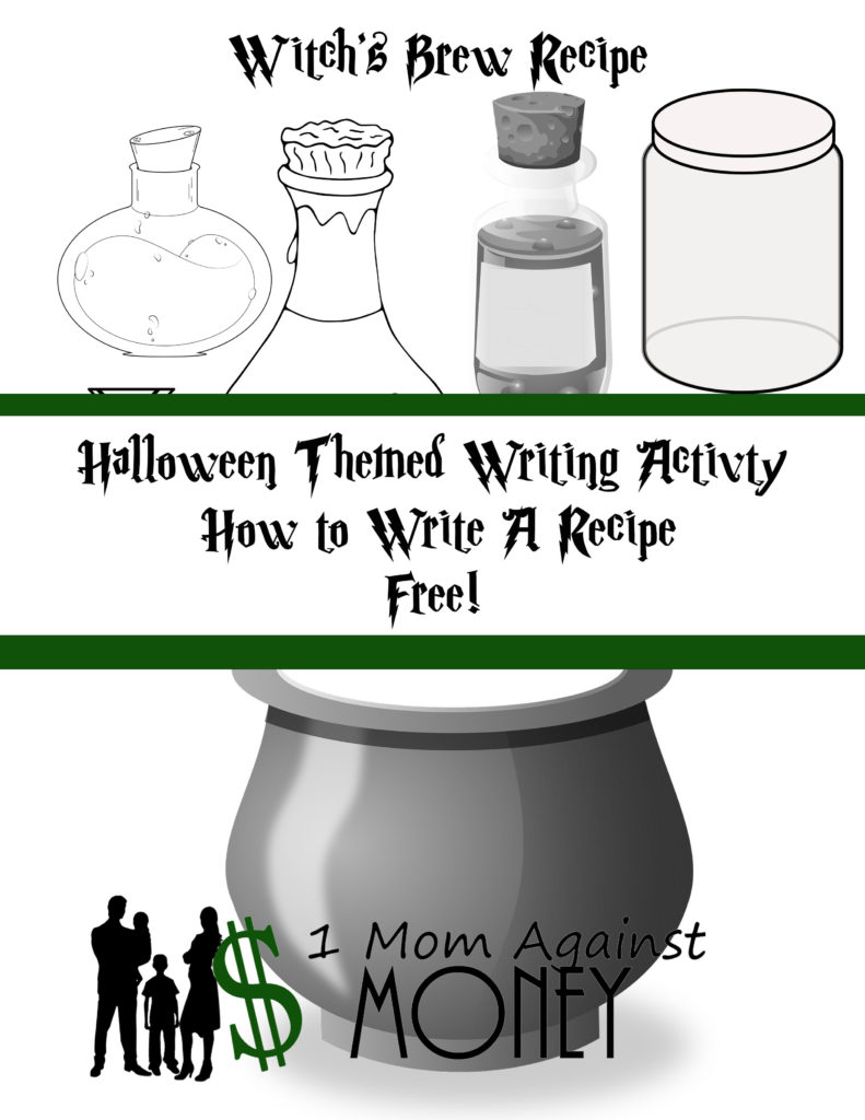 Witches Brew: Halloween Recipe Writing Activity