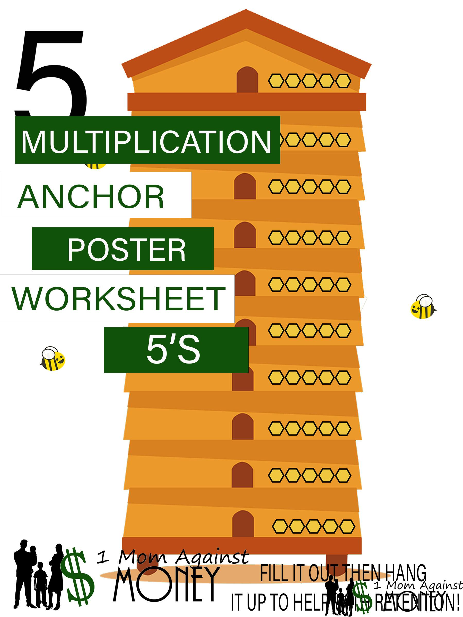 Read more about the article The 5 Beehive Times Table Worksheet and Poster