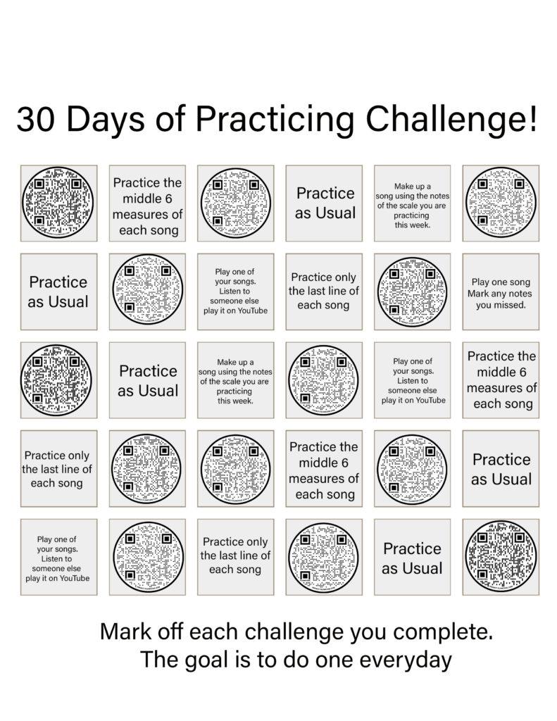 Piano Teacher Resources: 30 Day Practice Challenge