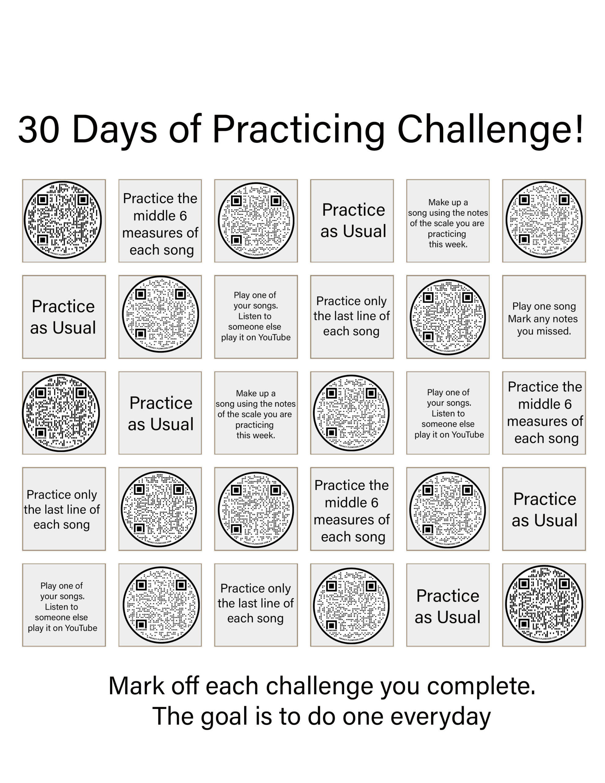 Read more about the article Piano Teacher Resources: 30 Day Practice Challenge