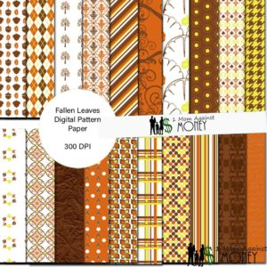 Free Fallen Leaves Patterned Paper Designs Download
