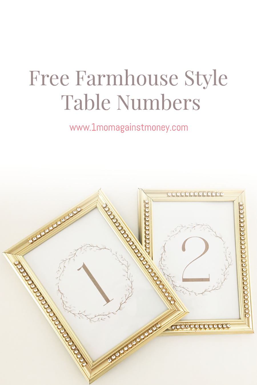 Farmhouse Style Table Numbers